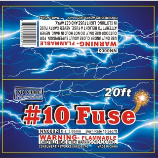 Novelty Fireworks by NO NAME NN0002 #10 Fuse