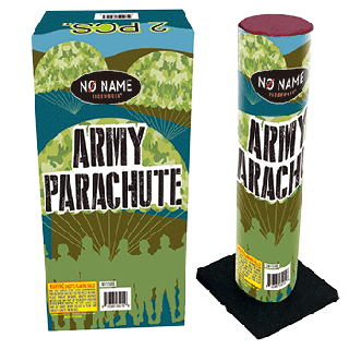 Army Parachute | 2pk Parachute with Army Guy  By No Name Fireworks